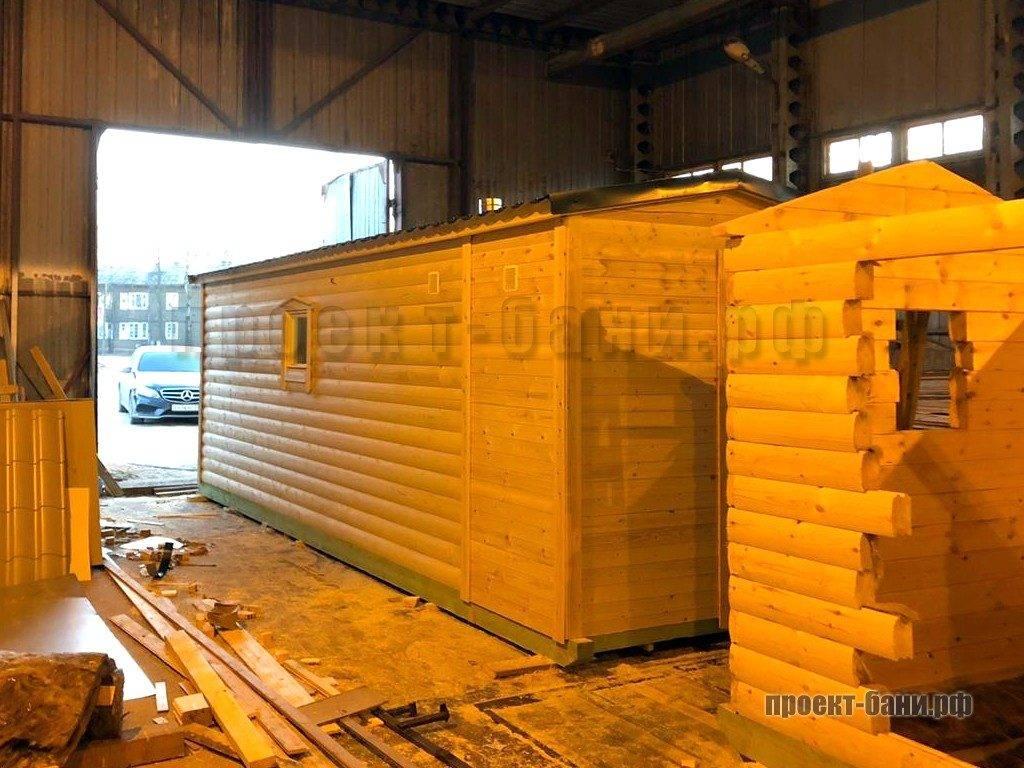 Конвейер по производств перевозных бань