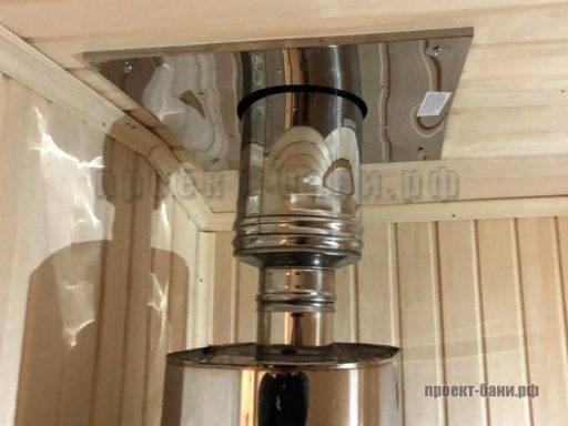 Вывод трубы печи через потолок