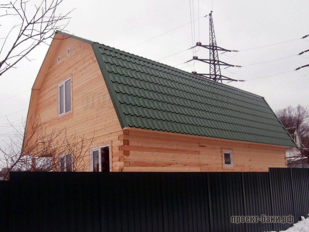 Самое простое и недорогое покрытие крыши.
