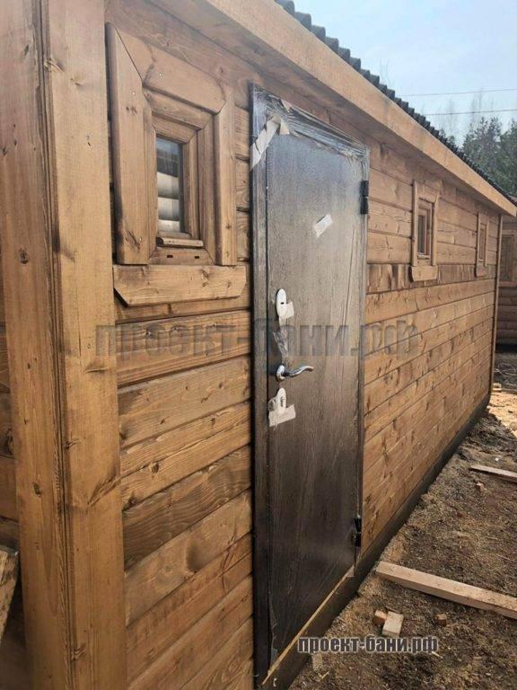 Перевозная баня с железной дверью